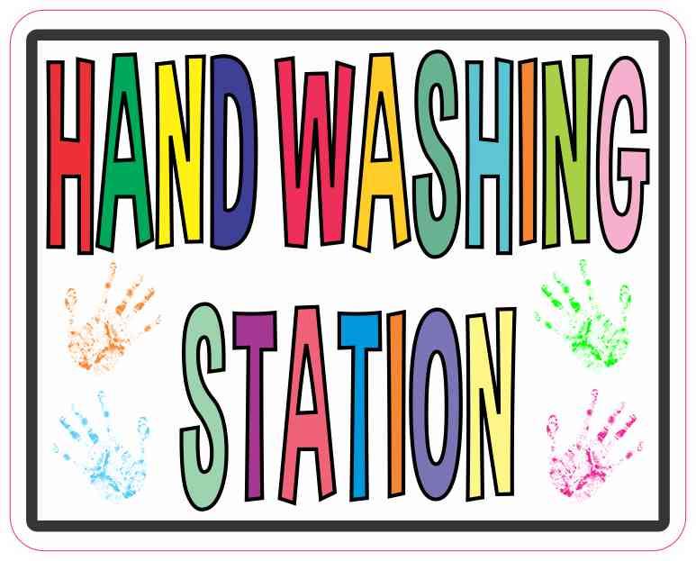 Hand Washing Station Sticker