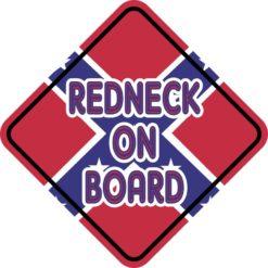 Redneck On Board Magnet
