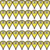 1-100 Yellow Map Pointer Stickers