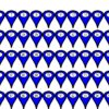 1-100 Blue Map Pointer Stickers
