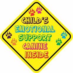Child's Emotional Support Canine Inside Sticker