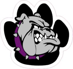 Purple Bulldog Paw Sticker