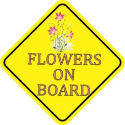 Flowers On Board Sticker