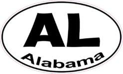 Oval AL Alabama Sticker