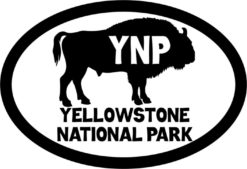 Buffalo Oval Yellowstone National Park Sticker