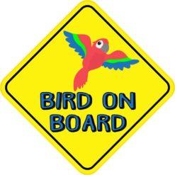 Macaw Bird On Board Sticker