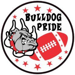 Red Bulldog Pride Sticker