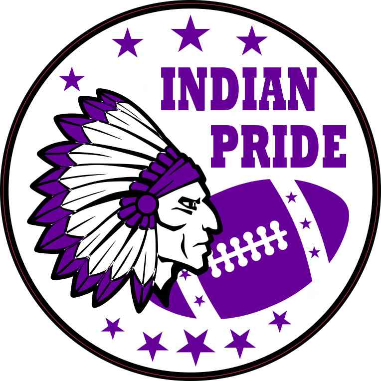 Purple Indian Pride Sticker