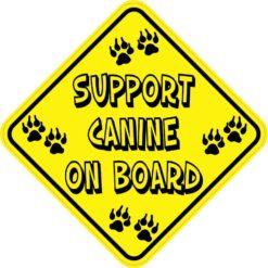 Support Canine on Board Magnet
