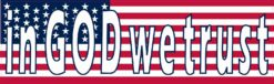 American Flag in God We Trust Magnet