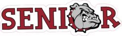 Maroon Bulldog Senior Sticker