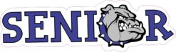 Blue Bulldog Senior Sticker