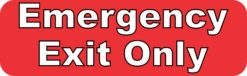 Emergency Exit Only Sticker