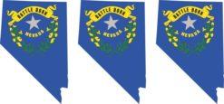 Nevada Flag Stickers