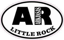 Oval AR Little Rock Arkansas Sticker