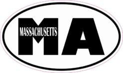 Oval Massachusetts Sticker
