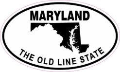 Oval Maryland the Old Line State Sticker