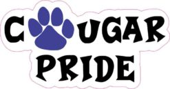 Blue Cougar Pride Sticker