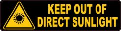 Keep Out of Direct Sunlight Sticker
