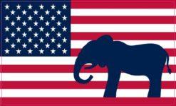 Republican Elephant American Flag Magnet