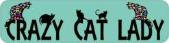 Green Crazy Cat Lady Magnet