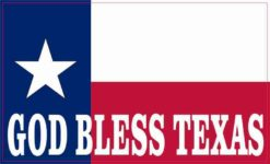 State Flag God Bless Texas Magnet