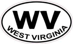 Oval WV West Virginia Sticker
