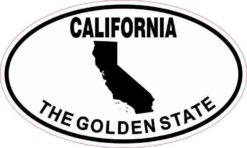 Oval California The Golden State Sticker