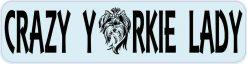 Crazy Yorkie Lady Sticker