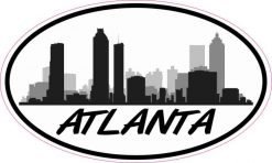 Oval Atlanta Skyline Sticker