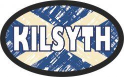 Oval Scottish Flag Kilsyth Sticker