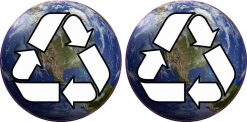 Earth Recycle Stickers