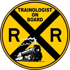 Trainologist on Board Sticker