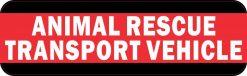 Animal Rescue Transport Vehicle Bumper Sticker