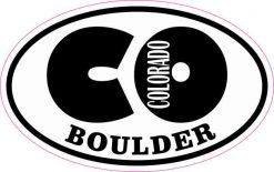 Oval CO Boulder Colorado Sticker