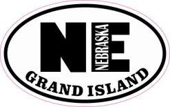 Oval NE Grand Island Nebraska Sticker