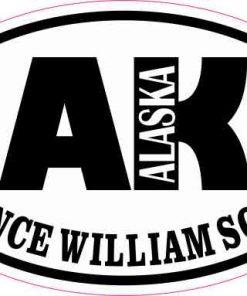 Oval AK Prince William Sound Sticker