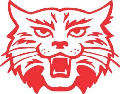 Red and White Wildcat Sticker
