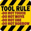 Tool Rule Sticker
