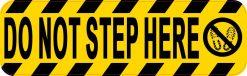 Symbol Do Not Step Here Sticker