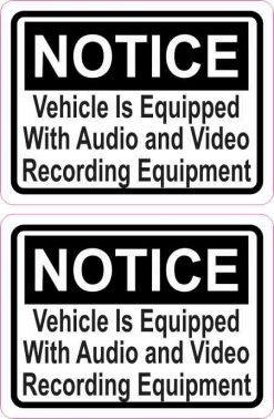 Audio and Video Recording Permanent Vinyl Stickers