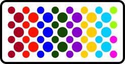 StickerTalk® Colorful Light Dots™