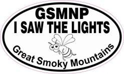 Oval GSMNP I Saw the Lights Sticker