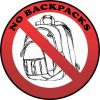 No Backpacks Sticker