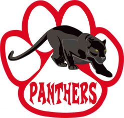 Red Panther Paw Sticker