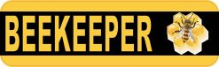 Black and Yellow Beekeeper Bumper Sticker