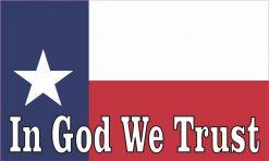 In God We Trust Texas Flag Vinyl Sticker