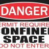Permit Required Confined Space Sticker
