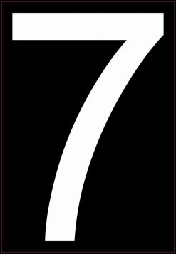 White Address Number 7 Magnet