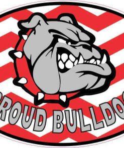 Chevron Proud Bulldog Vinyl Sticker